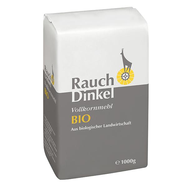 Dinkel Vollkornmehl BIO 1000 g - aus biologischer Landwirtschaft - Unsere Mehle / Rauchmühle / Rauchmehl / Rezepte. Für alle Mehlspeisen und Backwaren.