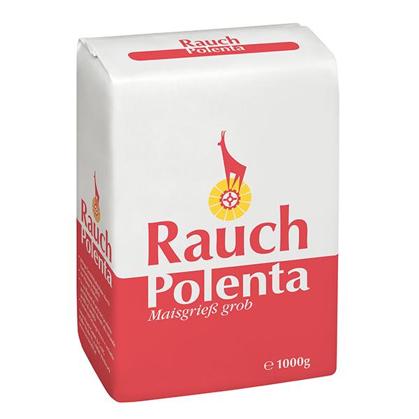 Polenta Maisgrieß grob 1000 g - Unsere Produkte - Unsere Mehle / Rauchmühle / Rauchmehl / Rezepte. Bekömmlich Beilage zu Fleisch und Gemüse sowie pikante und süße Hauptgerichte.