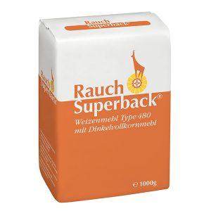Superback Weizenmehl Type 480 mit Dinkelvollkornmehl 1000 g - Unsere Mehle / Rauchmühle / Rauchmehl / Rezepte. Für alle Mehlspeisen