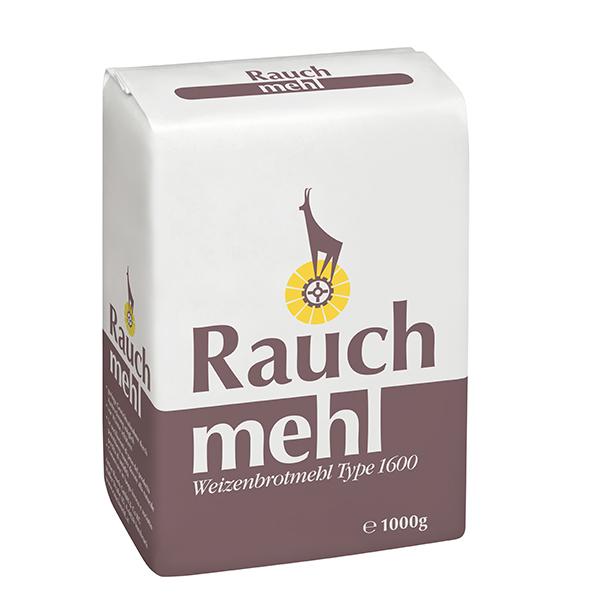 Weizenbrotmehl Type 1600 - 1000 g - Unsere Mehle / Rauchmühle / Rauchmehl. Zum Brotbacken, am besten gemischt mit Rauch Roggenmehl und/oder glattem Weizenmehl