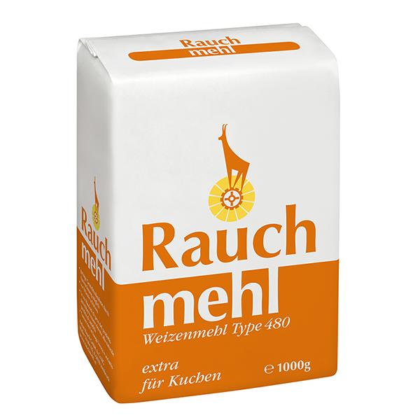 """Weizenmehl Type 480 extra für Kuchen 1000 g - orange - Unsere Mehle / Rauchmühle / Rauchmehl. Für anspruchsvolle Rezepte - prächtiges Volumes - Kuchen """"aufgeht"""""""