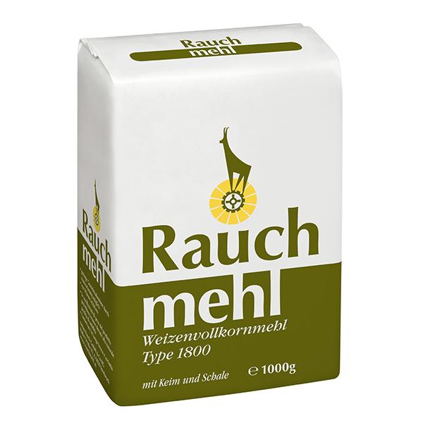 Weizenvollkornmehl Type 1800 1 kg - Unsere Mehle / Rauchmühle / Rauchmehl
