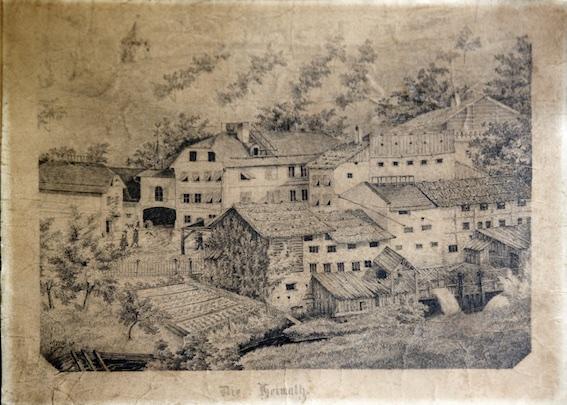 Jahr 1831 / Nach langer Wanderschaft fand Anton Rauch eine Anstellung in der Kindlmühle in Mühlau.