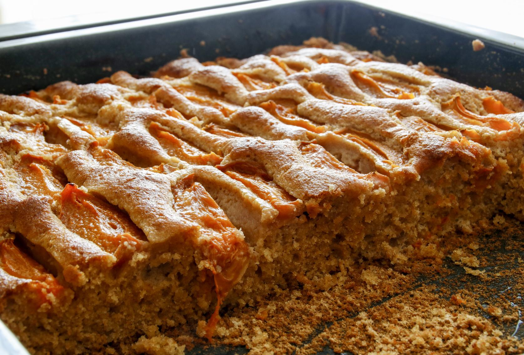 Marillen-Haselnuss-Kuchen / herrlich erfrischend und saftig / Rauchmühle / Rauchmehl